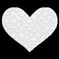Herz-Puzzle 63 Teile mit Ihrem Foto bedruckt